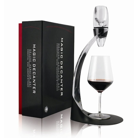 Decantor de vin Timeless Tools cu suport, 40 x 18,5 x 16 cm