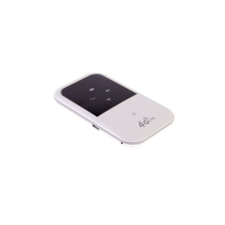 Mini Router Wireless Portabil, 4G/LTE, cu Acumulator 2400mAH, Slot SD, model M80, Alb