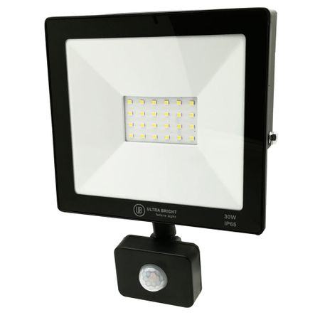 Proiector LED slim cu senzor Ultra Bright, 30W, 2100 lm, 6400K, A  , IP65